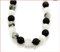Tiffany & Co Paloma Picasso Rare Moonstone Quartz Onyx Bead Bracelet & Pouch
