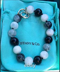 Tiffany & Co Paloma Picasso Rare Moonstone Quartz Onyx Bead Necklace