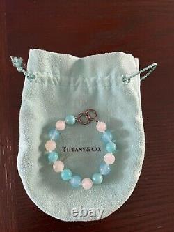 Tiffany & Co. Rare Picasso Bead Amazonite Gemstone Silver Bracelet 8.25