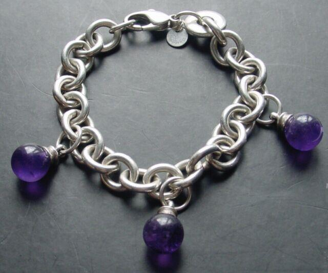 Tiffany & Co. Trusted 8mm Amethyst Bead Bracelet. Gorgeous & Rare
