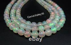 Top Rarenatural Welo Fire Ethiopian Opal Ball Shape Plain Beads Gemstone Gv-481