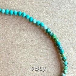 Turquoise Bracelet rare strand Sleeping Beauty stack Beaded Gemstone 6.5 14k