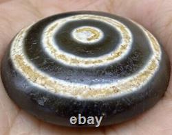 Unique Ancient Tibetan Rare Agate Powerful Stripes Amulet old wonderful eye Bead