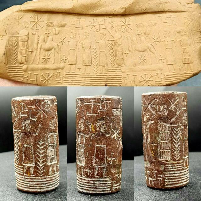 Very Old Sassanian Ancient Jasper Stone Lot Kings Camel Rare Cylinder Seal Bead