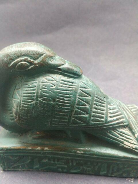 Very Rare Bead Ibis Stone Sculpture Egyptian Antique Thoth God Figurine