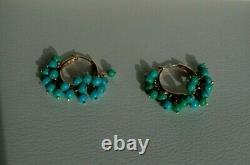 Very Rare Le Vian 14K Honey Gold Turquoise Beads Hoop Ring Huge and Pretty