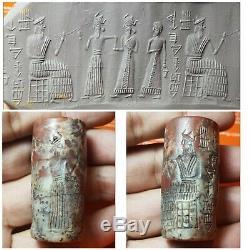 Very old sasanian rare jusper stone cylinderseal bead