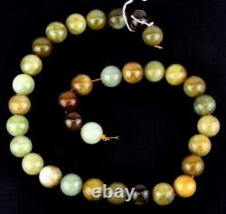 Very rare String Of Assorted colourful natural jade beads , Round, 20 mm