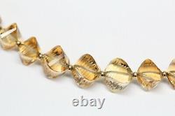 Vintage DAVID YURMAN 18k Gold, Citrine Beaded Necklace RARE 16 1/2 Inches