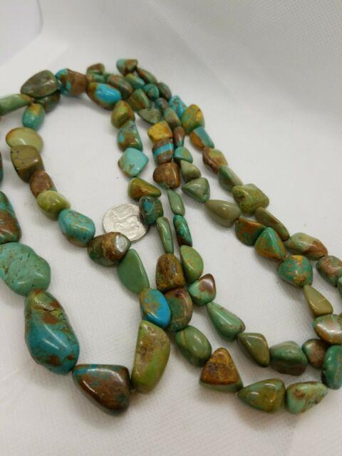 Vintage Kingman Turquoise Graduated Natural Gemstone Beads 36 Rare