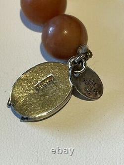 Vintage Les Bearnard Inc. Jadeite Pendant Bead Necklace Rare Beauty