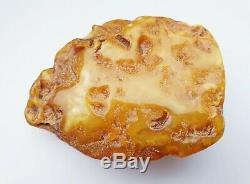 Vintage Natural Baltic Amber Rare Stone Rock Genuine Egg Yolk Color 51.5 g
