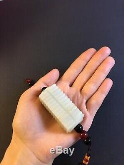 White Jade Jadeite Nephrite Rare A Class Grade Pendant Beads Hand
