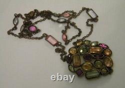 Women's USSR Czechoslovakia Stones Jewelry Vintage Beads Necklace Original Rare