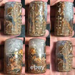 Wonderful Rare Ancient Greek Circa 300BC Intaglio Agate Cylinder Seal Old Bead