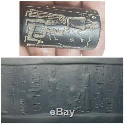 Wonderfull very rare old near eastern sassan hard stone cylinderseal bead