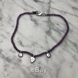 Wright and Teague Amethyst and silver necklace Rare